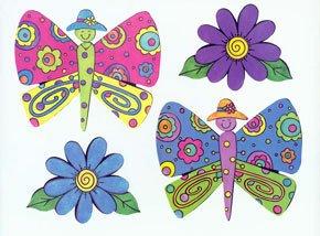 Kp Kids Butterfly Garden Wallpaper Cutouts