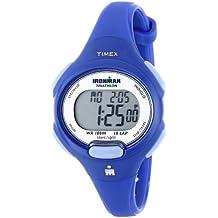 Timex Women's T5K784 Ironman Essential 10 Mid-Size Orient Blue Resin Strap Watch