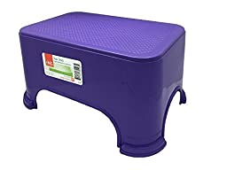 Click Home Design - Step Stool - Bright & Beautiful Collection #35528 - 11.5 x 7.3 x 6.5 inches (Purple)