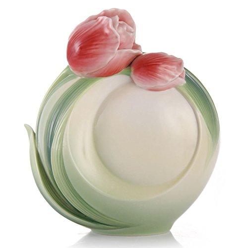 FZ02575 Franz New introduction Tulip Design Sculptured Porcelain - Design Vase Porcelain Sculptured