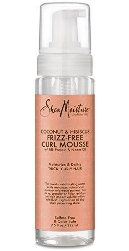 SheaMoisture 7.5 oz Coconut & Hibiscus Frizz-Free Curl Mouss
