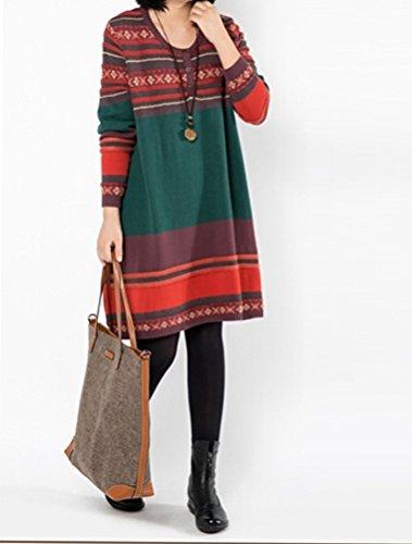 MatchLife - Vestido - Sudadera - para mujer verde oscuro