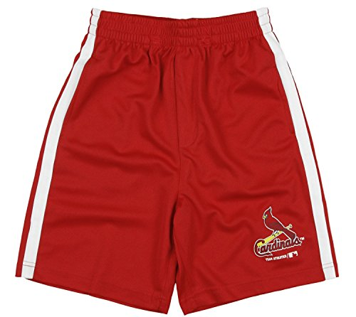 - Outerstuff St. Louis Cardinals MLB Little Boys and Big Boys Shorts - Red (Large (10/12))