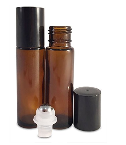 paquete Botella Roll-on Vidrio 10ml ambar (12 piezas)