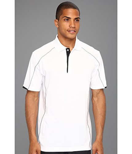Nike Golf Men's Golf Tech Core Color Block Polo WHITE/BLACK//BLACK 2XL ()