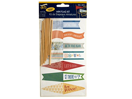 bulk buys Travel Theme Embossed Mini Flag Kit, - Travel Express Valentine