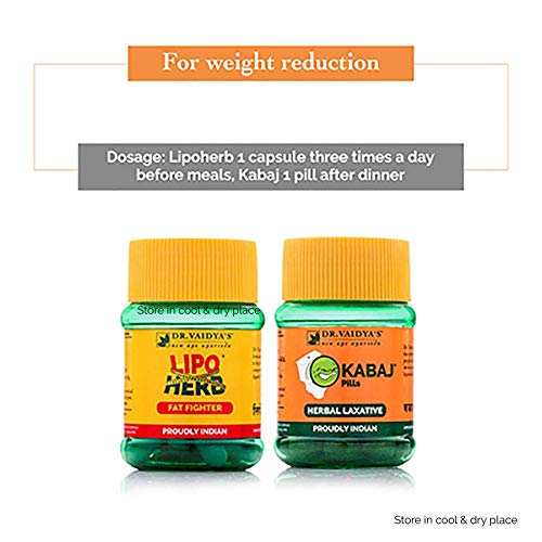 Buy Dr Vaidya S New Age Ayurveda Weight Reduction Pack Lipoherb 30 Capsules X 3 Kabaj Pills 30 Pills X 1 Online At Low Prices In India Amazon In