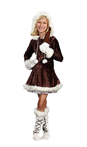Girls Eskimo Cutie Pie Kids Child Fancy Dress Party Halloween Costume, S (4-6) ()