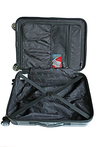 Silver Grey Carry on Hardshell Rolling Spinner Luggage 22