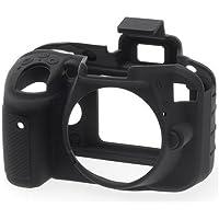 easyCover Silicon Case for Nikon D3300 and D3400 Cameras, Black