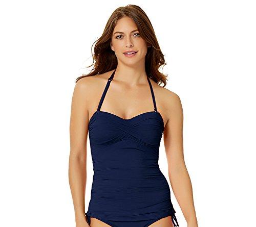 Anne Cole Bandini Swim Top Navy Blue X-Small
