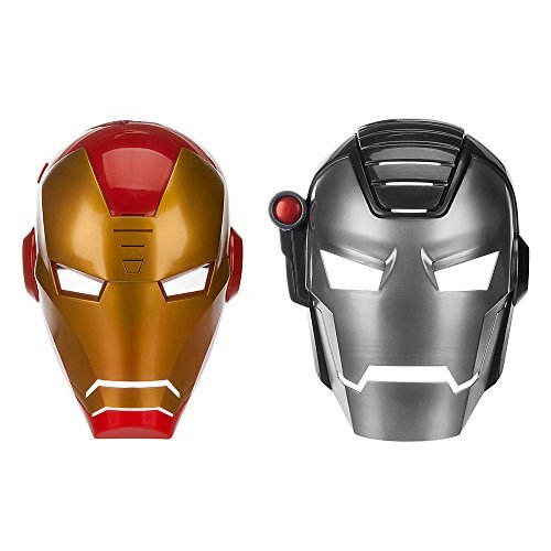 War Costume Machine Man 2 Iron (Electronic Talking 2-in-1 Iron Man Mask and War Machine Mask from Disney's Marvel)