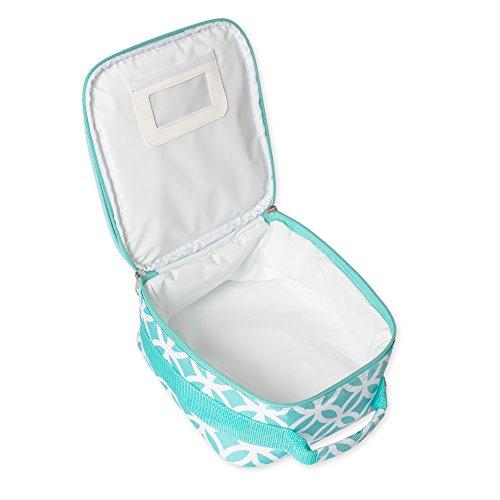 Insulated Water Resistant Lunch Bag (Aqua Sadie) - Aqua Lunch Bag