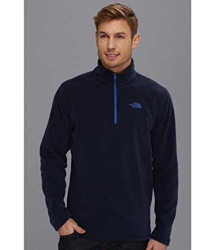Mens North Face TKA 100 Microvelour Glacier 1/4 Zip Cosmic Blue Size X-Large