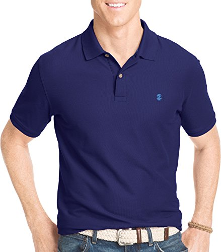 Izod- Short Sleeve Advantage Pique Polo Peacoat Size Medium