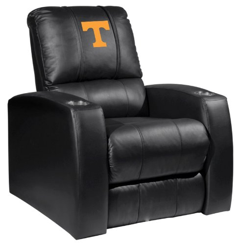 XZipit College Home Theater Recliner with Tennessee Volunteers Logo Panel, Black