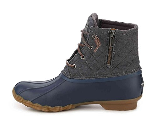 Sperry Top-Sider Womens Sweetwater Duck Boot (5, Quilt Navy/Grey)