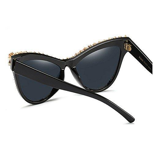 sol de de cristal sol Ultra personalidad Protección UV Zircon lujo mujeres de gran para de marco gafas mujeres de gafas ligero gafas decoración Ojos de gafas señora las de la sol sol de gato de la 541qvZ4