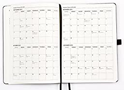 Action Day Academic Weekly Planner 2015-2016, 8x11-Inch, Black