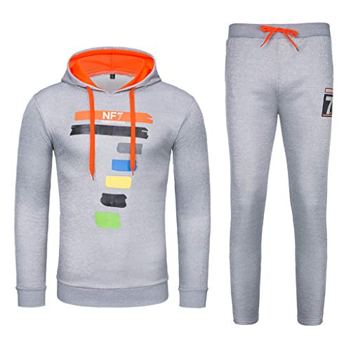 iHHAPY Tracksuits Mens Letter Print Sports Suits 2019 Jogging Suit Hoodie Sweatshirt Hoodie Sports Fitness Pants ()