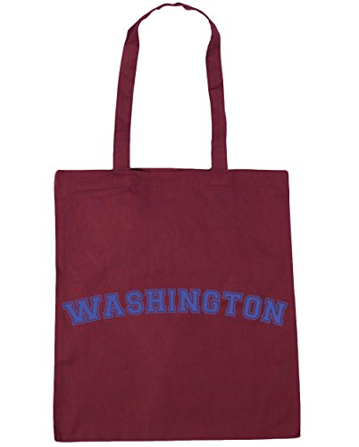 HippoWarehouse Washington Tote Shopping Gym Beach Bag 42cm x38cm, 10 litres Burgundy