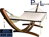 Petra Leisure 14 Ft. Wooden Arc Hammock Stand + Deluxe Hand Woven Bohemian