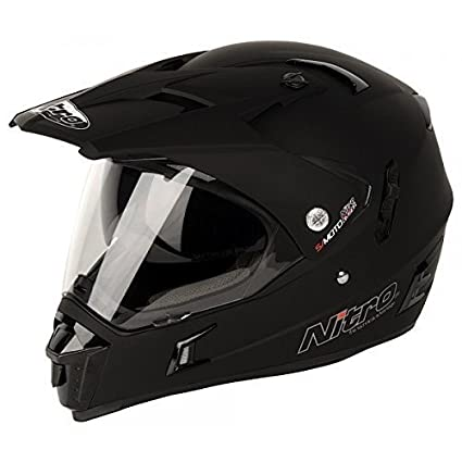 Amazon.es: Nitro - casco MX650 DVS Motocross negro mate ...