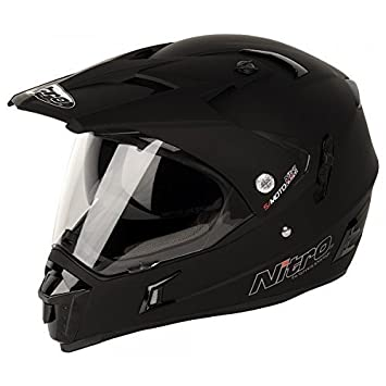 1abdf862a928e Amazon.es  Nitro - casco MX650 DVS Motocross negro mate - mediano