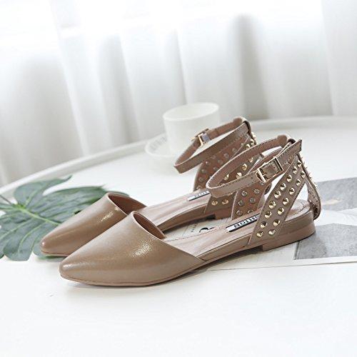 y Sexy América 38 ZHANGJIA Verano Zapato MsFlat Europa con Suela Sandalias Yznx8gpza