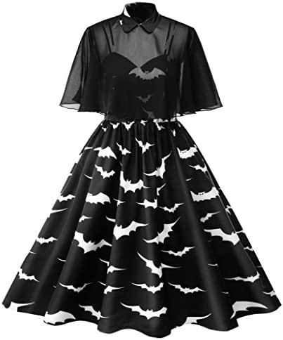 Halloween Dress Women Women's 1950s Cloak Two-Piece Cocktail Dress Prom A-line Lace Shawls Wraps for Evening Dresses