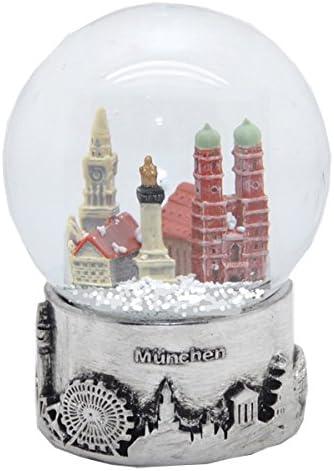 30050 Souvenir bola de nieve Allemania horizonte de Munich Plata pedestal-80 mm: Amazon.es: Hogar