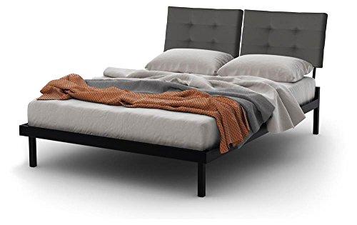 - Amisco Delaney Platform Bed in Textured Black Finish (Queen: 89.25 in. L x 61 in. W x 44.25 in. H)