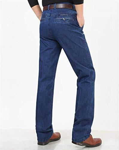 Da Abiti Dunkelblau inverno A Comode Pantaloni Autunno Gamba Jeans Uomo Dritta Hx Fashion Taglie Casual Lunghi 4TwBqp