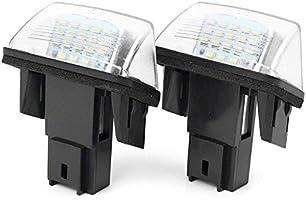1 Pair 12V LED License Plate Light Car Replacement for Citroen C3-C5 Peugeot 206//207//307//308//406//407 baozhisu