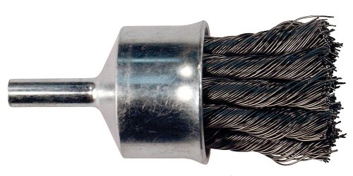 Flared Knot (PFERD 83065 Stem Mounted Flared Cup Power Knot End Brush, Carbon Steel Bristles, 1/2