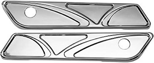 Carl Brouhard Designs sbl001C Eliteシリーズサドルバッグヒンジカバー–Spiroシリーズ–クロム