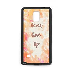 ZK-SXH - never give up Custom Case Cover for Samsung Galaxy Note 4, never give up DIY Cell Phone Case