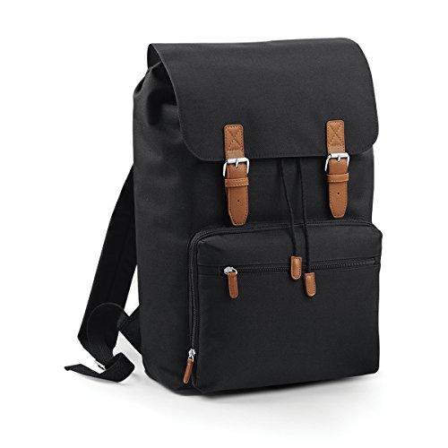"BagBase Rucksack fur 17 bis Laptop zu ""Laptop Rucksack Vintage-30x46x17cm 18L Freizeit black BU3vwg"