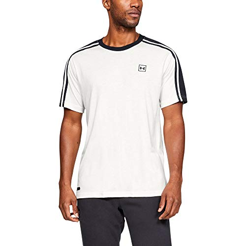 Under Armour Unstoppable Striped Short Sleeve, Onyx White//Black, XX-Large