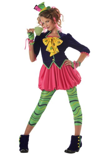 California Costumes girls Tween Miss Mad Hatter Costume Small (6-8) -
