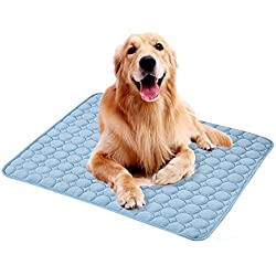 iBaste_S Large Pet Cooling Mat Self Cooling Dogs Bed Mattress Cats ice silk Cushion Pad Heat Relief Non-Toxic