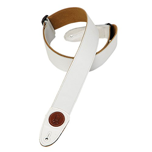 Levy's Leathers MSS7G-WHT Signature Series Garment Leather Guitar Strap, ()