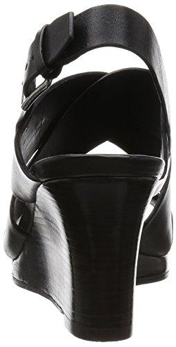 ... Cole Haan Kvinners Penelope Kile Sandal Sort Skinn ...