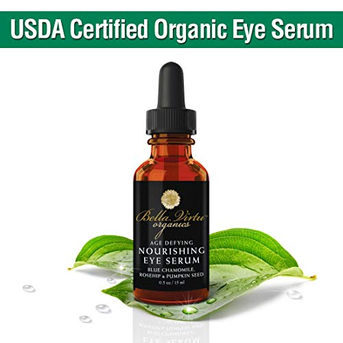 Natural Under Eye Serum For Dark Circles & Puffiness With Rosehip Oil - Eye Bag Remover & Anti Wrinkle - Fine Lines, Crows Feet & Dark Circle Corrector (15ml)
