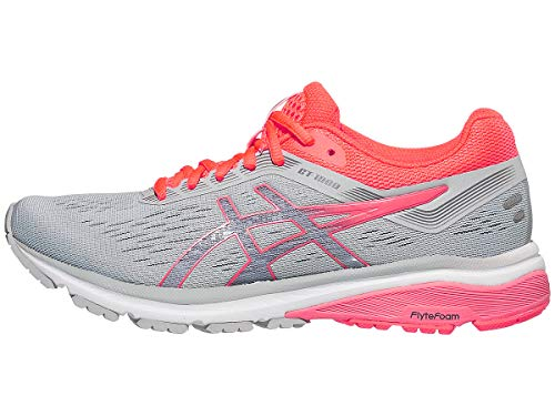 7 Mid Running Gt1000 Asics 8 Coral flash Grey Shoe Women's Z5w6WUxpfq