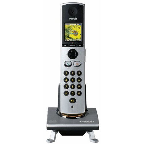 VTech I5808 Accessory Cordless Handset, Silver/Black | Requires a VTech I5858 or I5871 Expandable Phone System to Operate