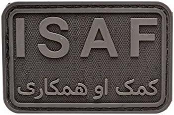 Emerson Hizo Isaf PVC Militares Parche Emblema Sabage Velcro Negro con Negro: Amazon.es: Juguetes y juegos