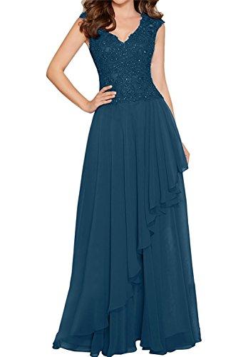 Partykleider Damen Blau Jugendweihe La Abendkleider Kleider Fuchsia Lang Braut Dunkel Chiffon Brautjungfernkleider mia Rt7wx0qp4