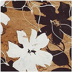 تابلوه بيضاء مربع مزين بالورود من فوتو بلوك 16 سم × 16 سم - 2724798909922
