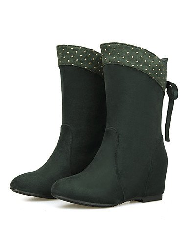 XZZ Nero e Wedged Marrone Fashionable Rosso Eu37 Heel Blu Boots us6 Uomo Verde Outdoor lavoro Wedge Boots Uk4 5 Casual Cn37 5 Green 7 Ufficio 5 ZOOr8Yx